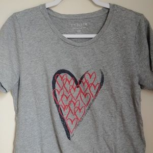 J. Crew Tops - J. Crew Collector Heart T-Shirt graphic Tee Sz M